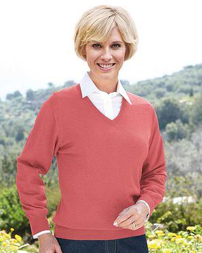 Merino Wool V neck Sweater - Ladies