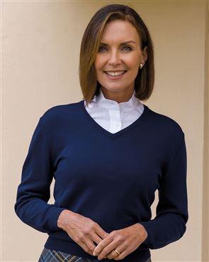 Merino Wool V neck Sweater  Ladies