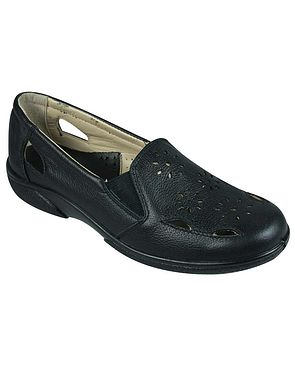 DB Wider Fit Leather Hedge Shoe - Black