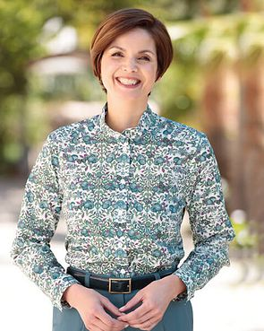 Karen Floral Liberty Print Tana Lawn Blouse