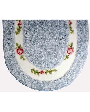 Roses Bath Mats - Blue