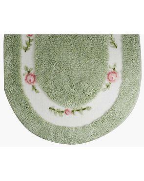 Roses Bath Mats - Green