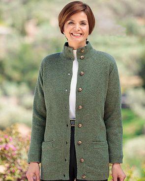 Georgina Pure Lambswool Jacket - Fir Green