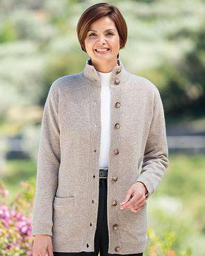 Georgina Pure Lambswool Jacket - Oatmeal