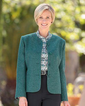 Dunbar Pure Wool Green Tweed Jacket