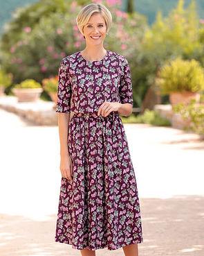 Geraldine Multi Coloured Pure Austrian silky cotton jersey Dress