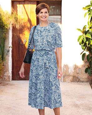 Elsa Multi Coloured Pure Austrian silky cotton jersey Dress