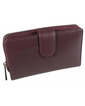 Zipped Leather Purse