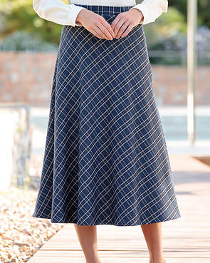 Amalfi Multi Coloured Wool Blend Skirt