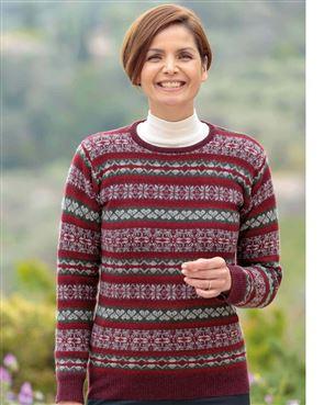 Zoe Pure Lambswool Fairisle Sweater