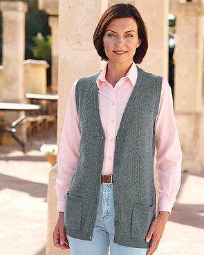 Grey Lambswool Longline Waistcoat