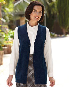Lambswool Longline Waistcoat