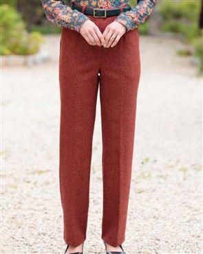 Rothbury Pure Wool Russet Tweed Trousers