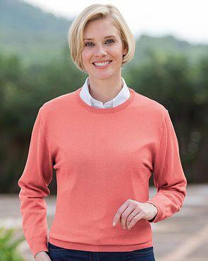 Merino Wool Crew Neck Sweater - Ladies