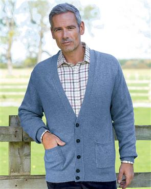 Lambswool Cardigan  Mens