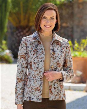 Carla Poly Mix Floral Jacket