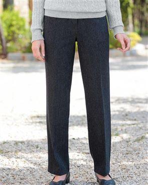 Bamburgh Wool Blend Striped Trousers
