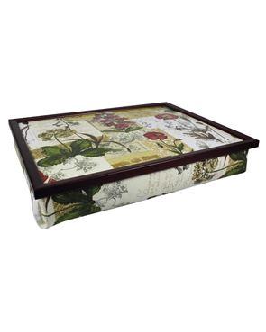 Lap tray floral garden