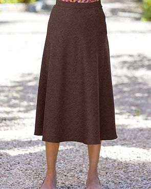 Flannel Skirt - Chocolate