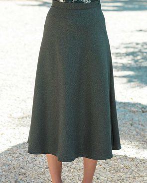 Flannel Skirt - Loden