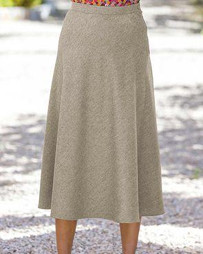 Flannel Skirt - Oatmeal