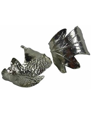 Pewter Oak Leaf Napkin Rings