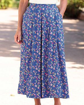 Kimberley Floral Supersoft Viscose Skirt