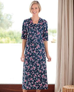 Andrea Floral Silky Cotton Dress