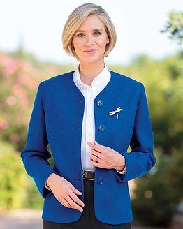 Sicily Cobalt Pure Shetland Wool Tweed Jacket