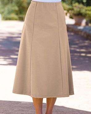 Easycare Pull On Skirt - Biscuit