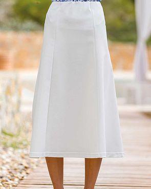 Easycare Pull On Skirt - White