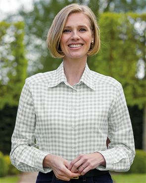Belinda Checked Pure Cotton Blouse
