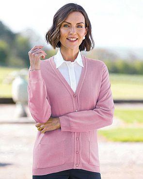 Merino Cardigan  - Dusky Pink