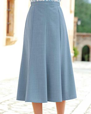 Sandown Skirt  - Pale Blue