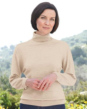 Merino Roll Neck Sweater  - Camel
