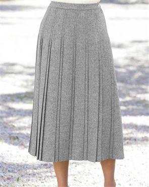 Truro Pure Shetland Wool Skirt