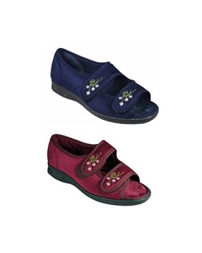 DB Wider Fit Velcro House Shoe