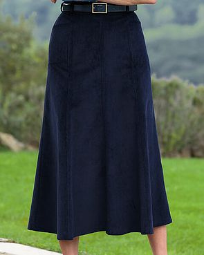 Needlecord Skirt  - Navy