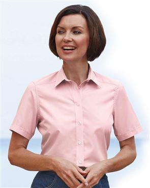 Easycare Short Sleeve Plain Polycotton Shirts