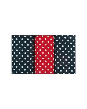 Pure Cotton Spotted Hankerchiefs - Navy