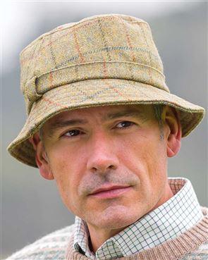 Teflon-Coated Wool Tweed Hat
