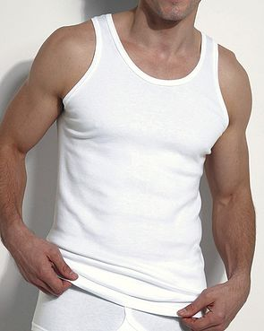 Essential White Vest - Mens