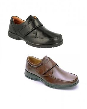 DB Wider Fit Velcro Fastening Shoe