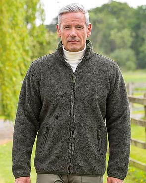 Fleece Zip Front Jacket - Olive