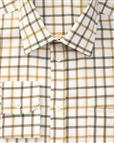 Tattersall Check Pure Cotton Twill Long Sleeve Shirt in Olive and Gold