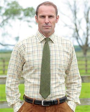 Haydock Tattersall Check Cotton & Wool Shirt