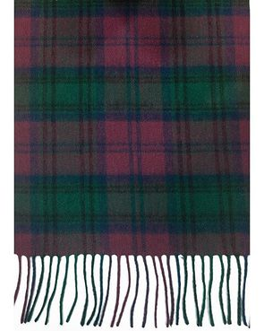 Checked Pure Lambswool Scarf