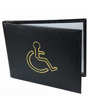 Black Leather Disabled Badge Holder