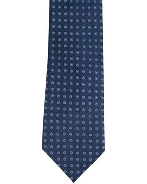 Silk Ties - Navy Patterned