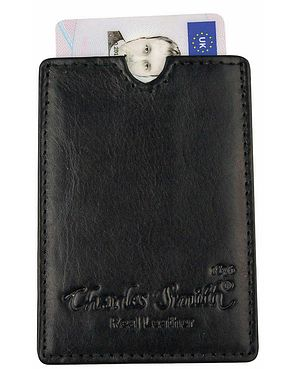 Leather Credit Card Holder  - Black